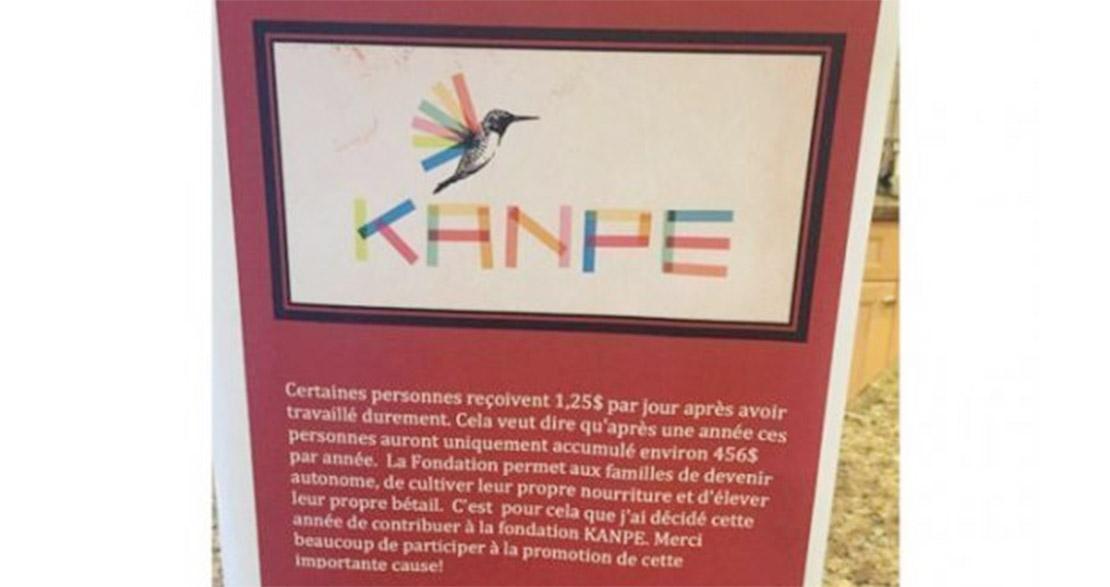 Le don de soi de nos jeunes ambassadeurs KANPE